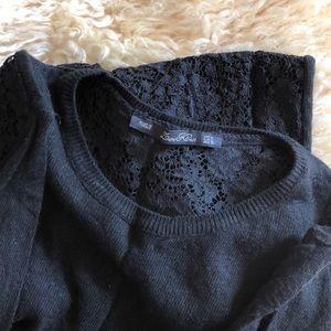 Zara Knit Lace Back Sweater